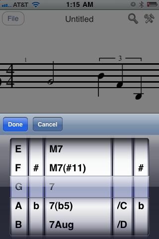 iWriteMusic app - instructions -